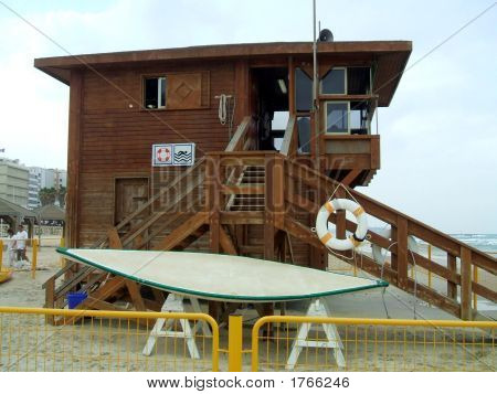 Watch Tower On The Beach