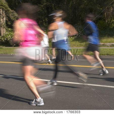 Speedy Blurred Runners