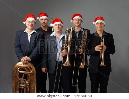 Young Musicians With A Wind Instruments