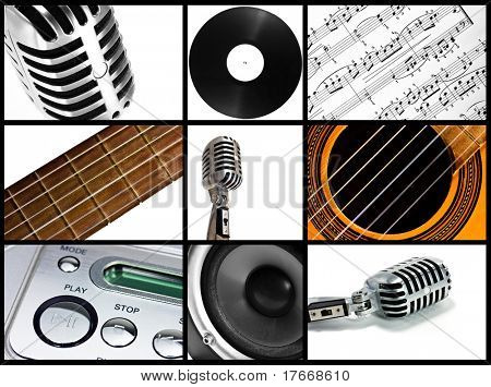 music collage - high definition photo
