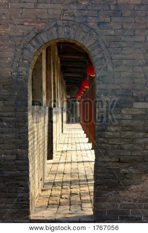 Archway And Corridor