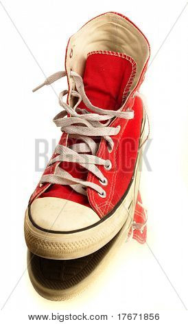 vintage sneakers isolated on a white background