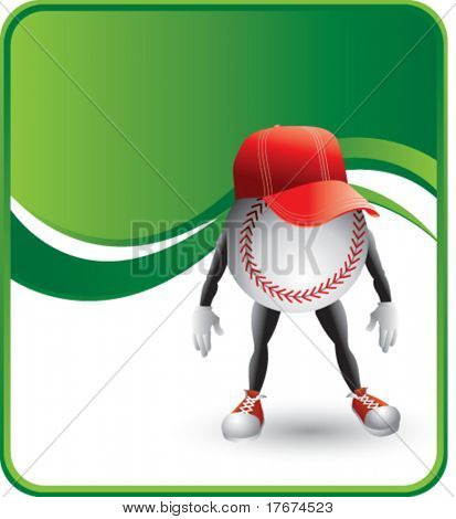 classy cartoon baseball hat background