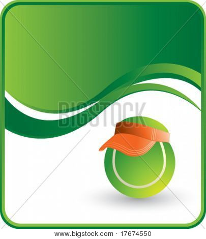 classy tennis ball visor background