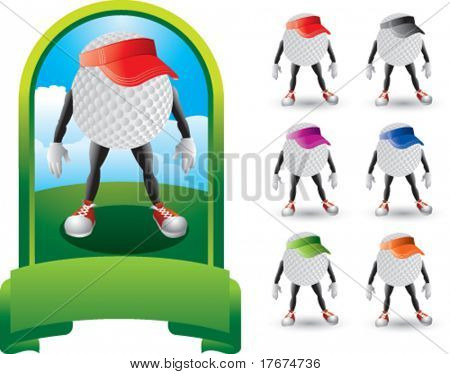 featured golf men with multiple visors