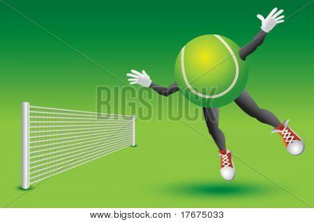 tennis man over the net