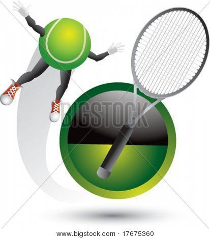 swooshing tennis man