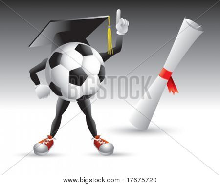 graduate soccer ball man
