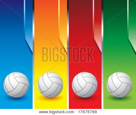 multi color volleyball banners