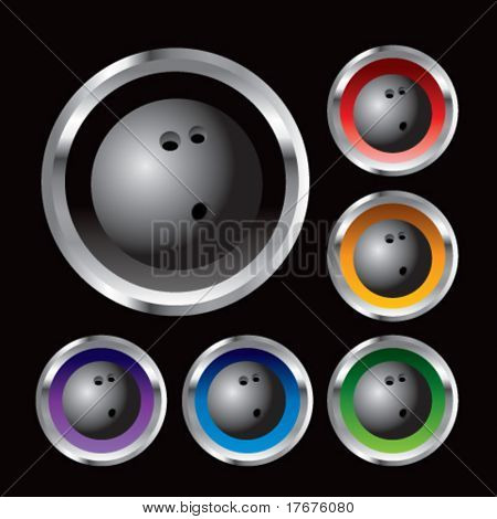 multiple colored round metal  bowling balls