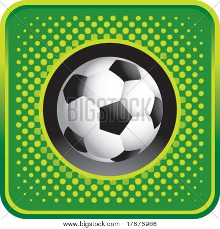 halftone button soccer ball