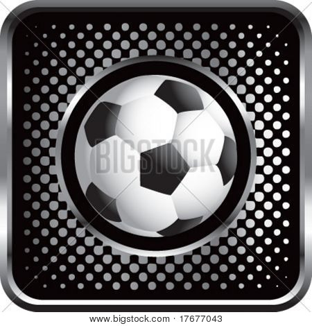 halftone silver button soccer ball