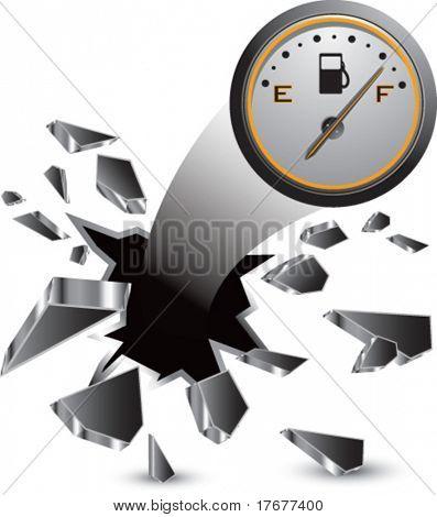breakthrough fuel gauge isolated