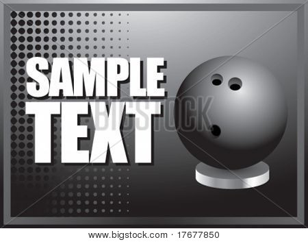 silver horizontal bowling ball display