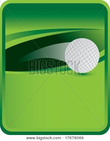 green sports message board with soaring golf ball