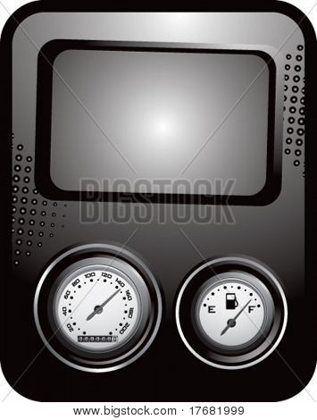 speedometer and gas gauge on template banner