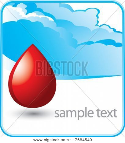 blood droplet on cloud banner