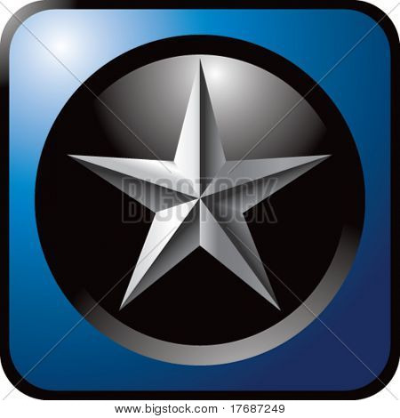 star icon on blue web button