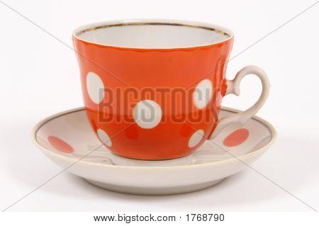 Orange Tea Cup