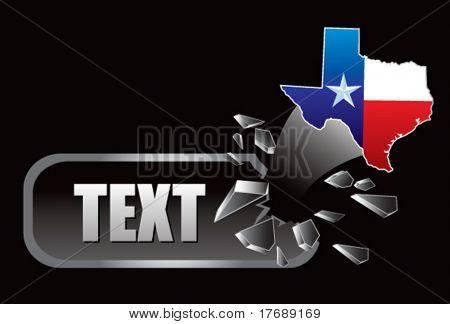 texas icon on broken banner