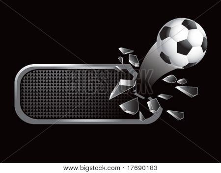 soccer ball on broken banner