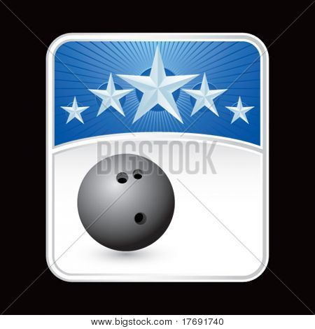 bowling ball on superstar background