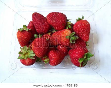 Fresh Strawberry In Plastic Box