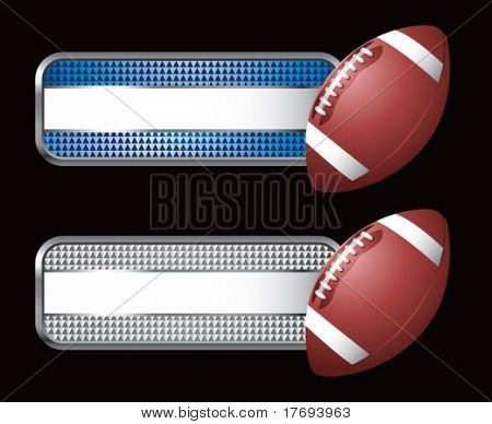 football on diamond checkered banners