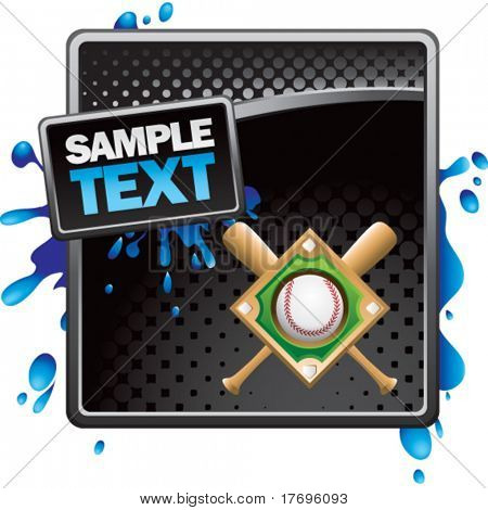 baseball diamond and bats on classy modern style grunge template