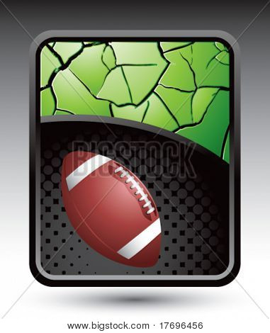 football on cracked halftone template