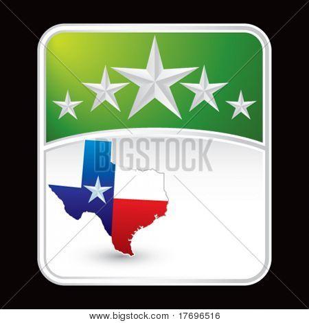 texas lonestar state on green superstar background