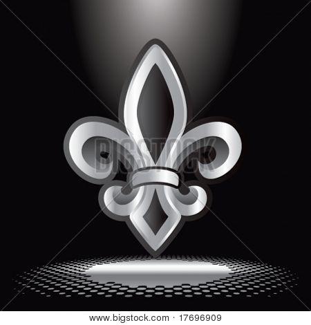 fleur de lis symbol under spotlight
