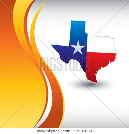 lonestar state on vertical wave background