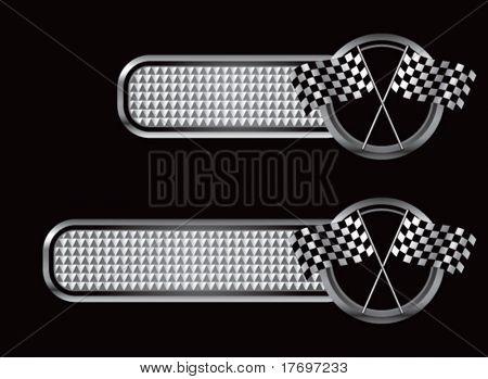 bandeira quadriculada de corrida em diamante texturizado banners
