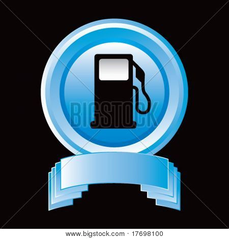 gas or fuel icon on blue display
