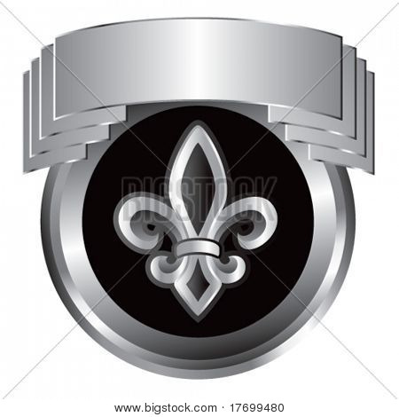 fleur de lis symbol silver crest