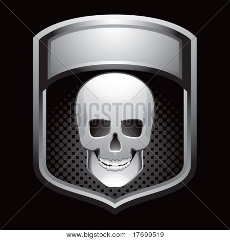 skull head crest colored gray