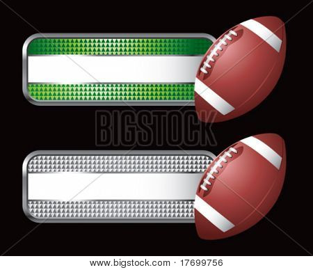 football on diamond checkered banners