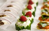 foto of crudites  - Plate with small snacks served at a party - JPG