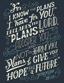 For I Know The Plans I Have For You Bible Quote poster