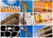 foto of construction industry  - construction collage  - JPG