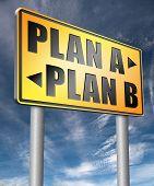 plan a plan b backup plan or alternative option 3D illustration poster