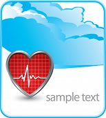 stock photo of first aid  - heart beat on cloud banner - JPG