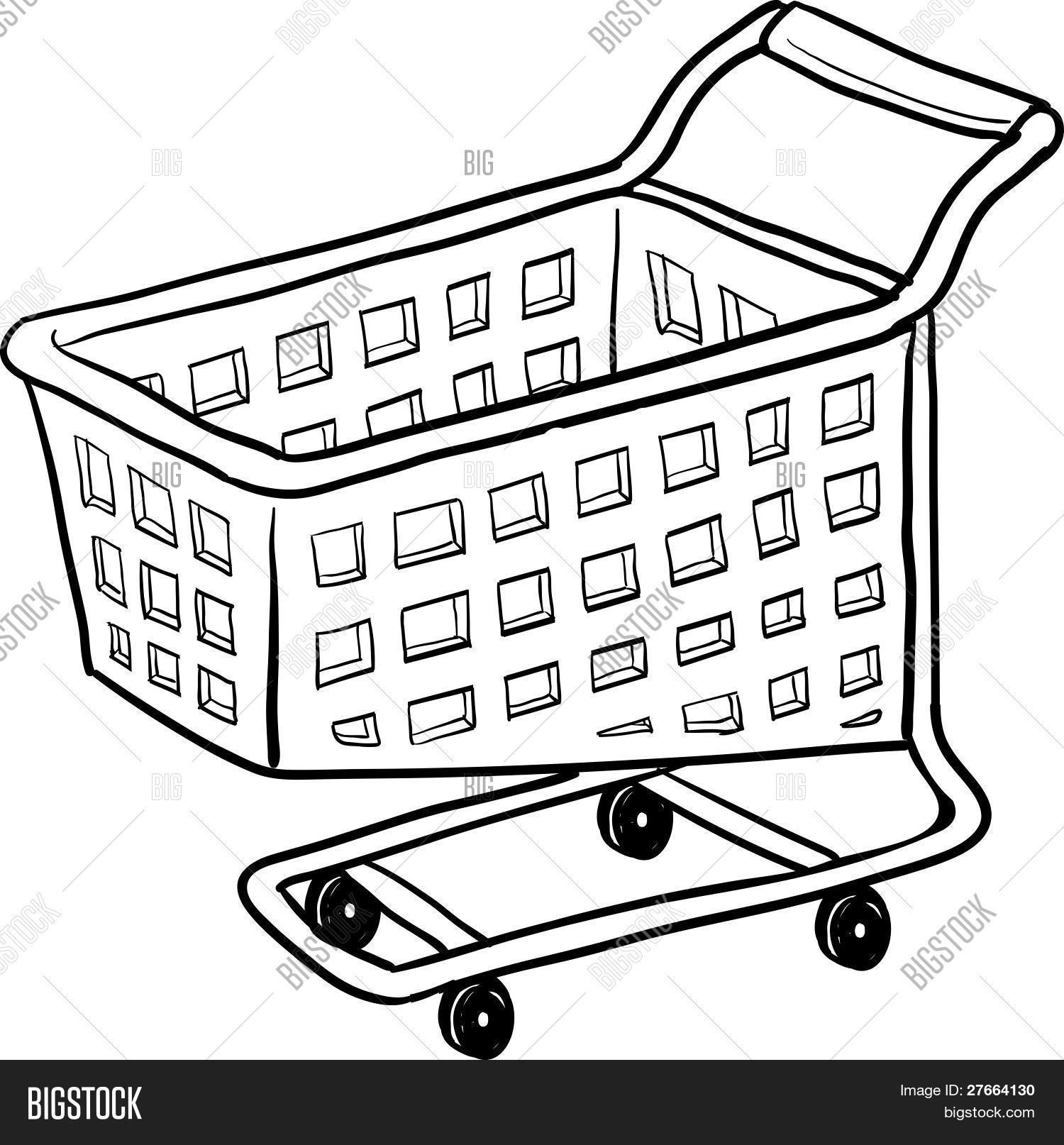 This is a graphic of Wild Shopping Cart Drawing