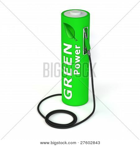 Battery Petrol Station - Green Power