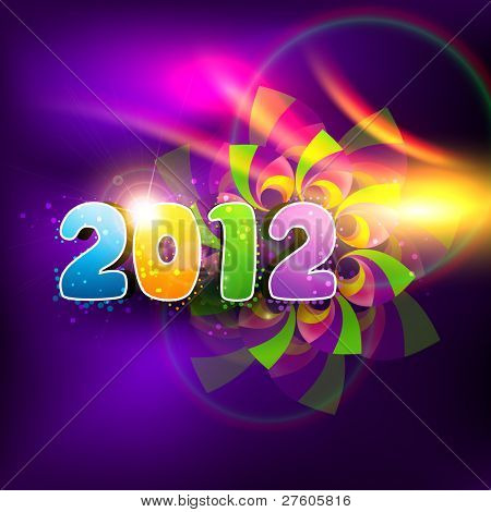 stilvolle bunten frohes neues Jahr 2012 Vector design