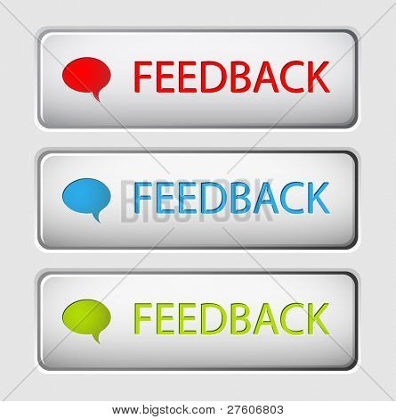 Set of three vector feedback buttons