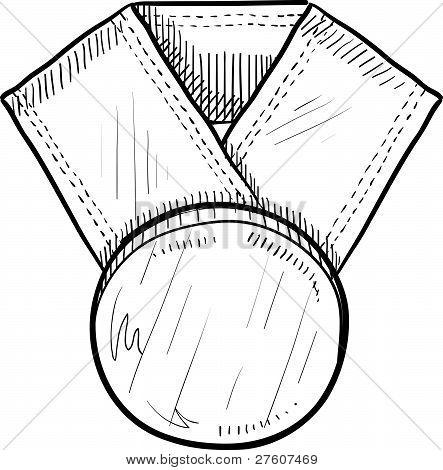Blank award medal sketch