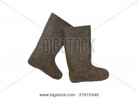 Russian felt boots