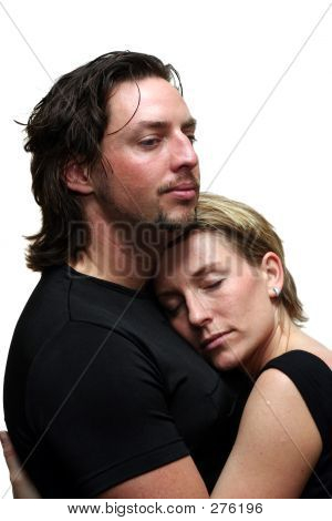Isolated Couple Cudling